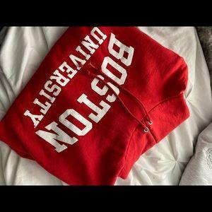BOSTON UNIVERSITY RED HOODIE CHAMPION